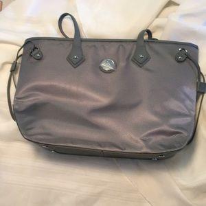 Joy Mangano gray tote NWOT- new bag purse tote